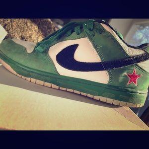 Unique Green Heineken Nike shoes